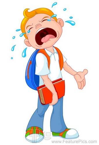 Crying School Boy - End of Summer Break